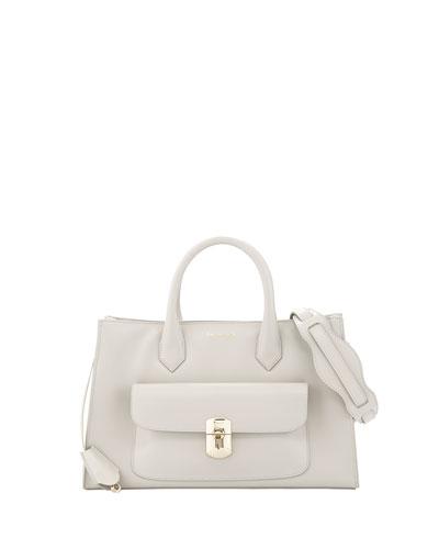 Padlock Works Tote Bag, Gray