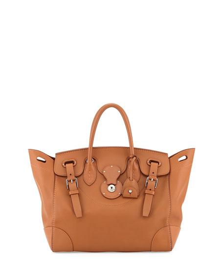 5bdec7866ad2f ... france ralph lauren soft ricky 33 soft calfskin satchel bag tan ea559  7edca