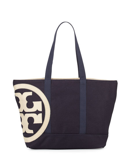 ec23837d625 Tory Burch Square Canvas Beach Tote Bag