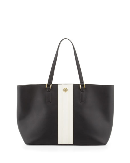 ec7e54c790b Tory Burch Robinson Striped East-West Tote Bag