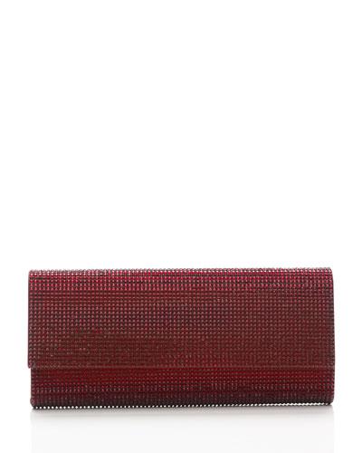 Ritz Fizz Crystal Clutch Bag, Silver Crimson