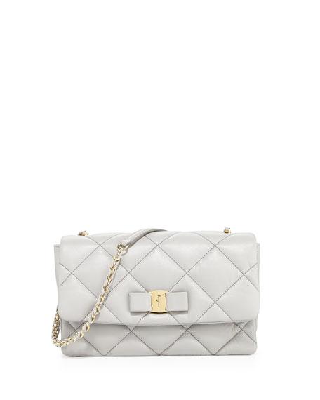 e54ffcdb9628 Salvatore Ferragamo Vara Soft Quilted Shoulder Bag