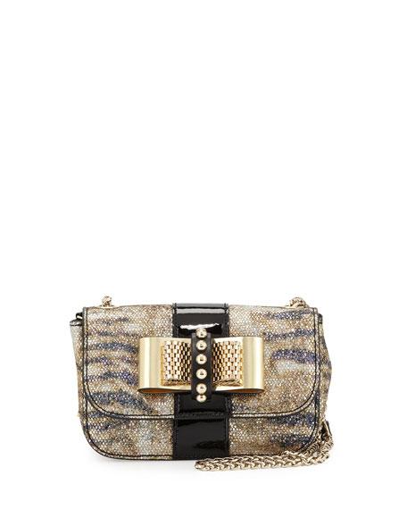 46d3d7097ab Christian Louboutin Sweet Charity Small Glitter Crossbody Bag, Black