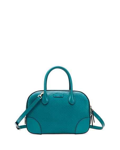 5b433427fdd6ce Gucci Bright Diamante Small Leather Bag, Turquoise