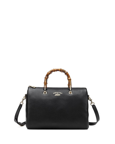 Black Medium Bamboo Bag Gucci y3CcWJ7EG