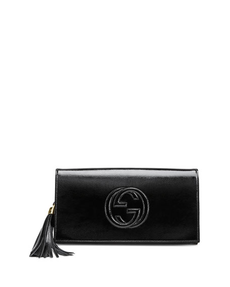Gucci Soho Patent Leather Clutch Bag 66eff0638