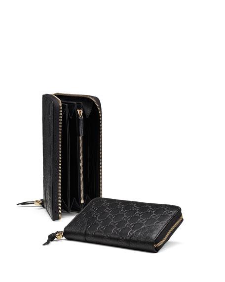40e8d63bc03b3 Gucci Bree Guccissima Leather Zip Around Wallet