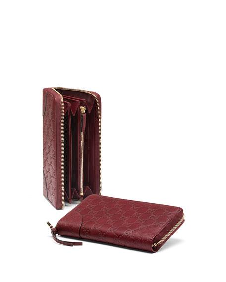 dd9b3344e5c Gucci Bree Guccissima Leather Zip Around Wallet