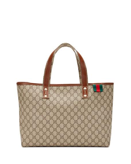 f47d7a8e300e Gucci GG Plus Signature Web Tote Bag