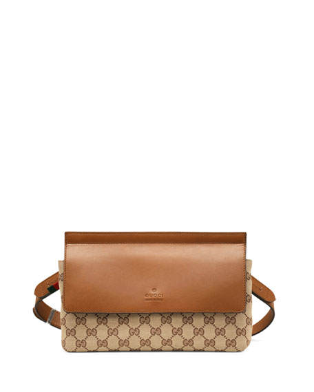 6610618f5f551e Gucci Bridle Original GG Canvas Belt Bag, Tan