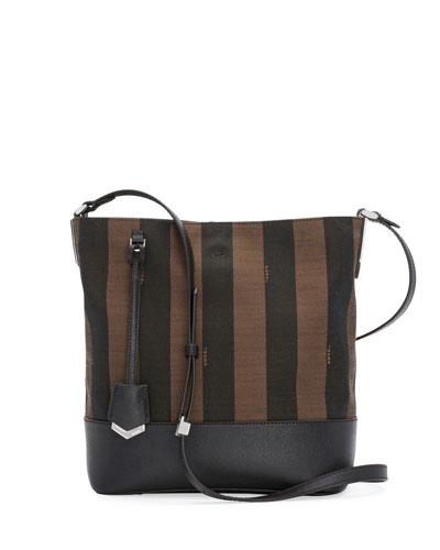 Pequin Striped Bucket Bag, Brown