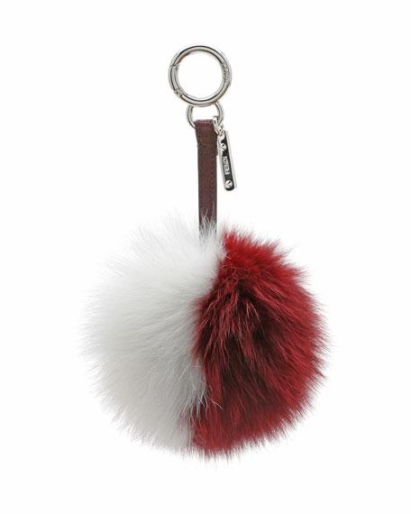 de0d5e618f3d Fendi Bicolor Fur Pom-Pom Charm for Handbag