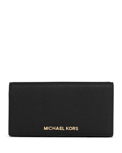 Large Jet Set Travel Slim Wallet