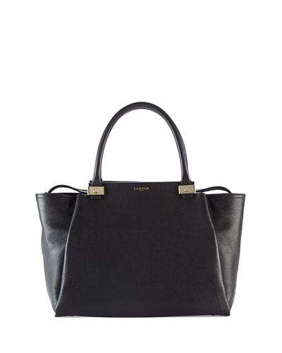 Trilogy Leather Tote Bag, Black