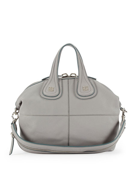 e73a277e47e8 Givenchy Nightingale Small Leather Satchel Bag, Pearl Gray