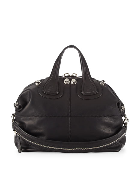 602d5fe632c8 Givenchy Nightingale Medium Leather Satchel Bag, Black