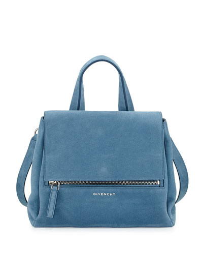 Pandora Pure Small Nubuck Satchel Bag, Blue