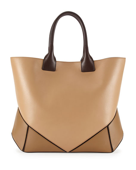Easy Medium Leather Tote Bag Camel