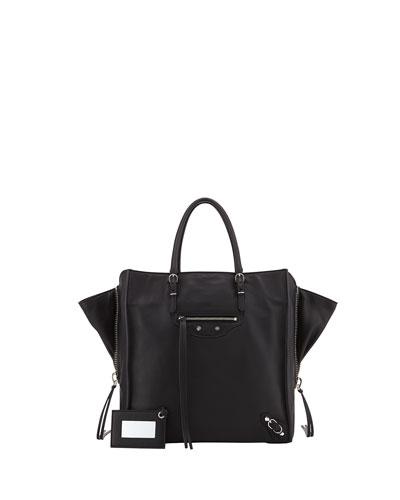 Papier A5 Zip Around Tote Bag, Black