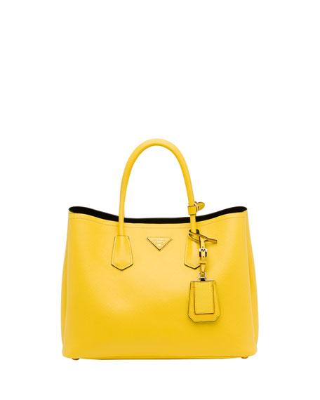 ec13d851426 Prada Saffiano Cuir Double Bag, Yellow (Girasole)