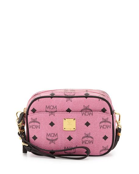 13e324d53 MCM Visetos Mini Crossbody Bag, Pink