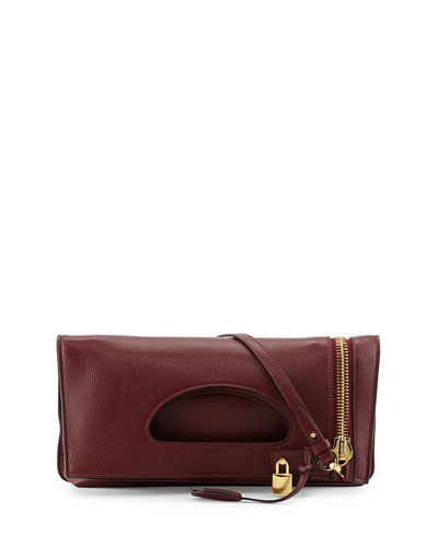 Alix Zip & Padlock Crossbody Bag, Red