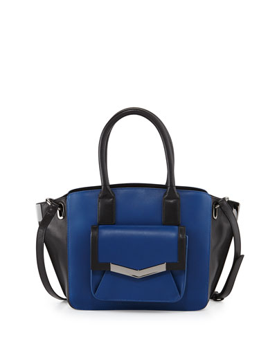 Jo Mini Leather Tote Bag, Paris Blue