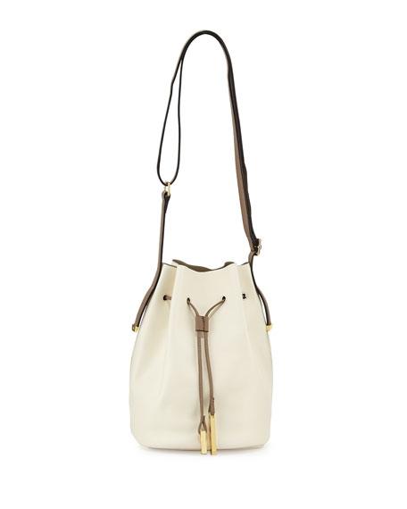 361964481319 Halston Heritage City Casual Leather Bucket Bag