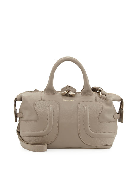 Kay Leather Satchel Bag Stone
