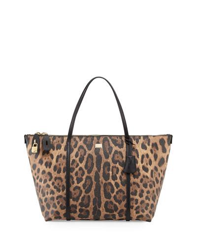 Escape Leopard-Print Zip Tote Bag