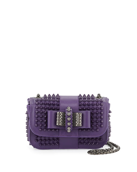 bc6631c62e2 Sweet Charity Small Spiked Crossbody Bag Violet