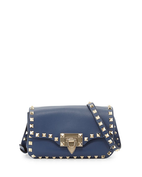 Valentino Rockstud Flap Crossbody Bag Leather Small 7b9bbm
