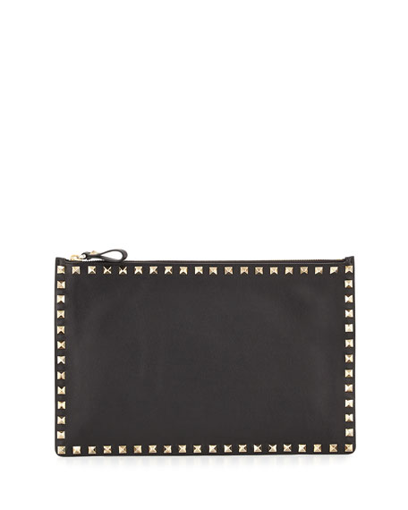 Valentino Rockstud Zipped Pouch Outlet 2018 Cheap Release Dates Discount Wiki Free Shipping Authentic vQRozS2LM