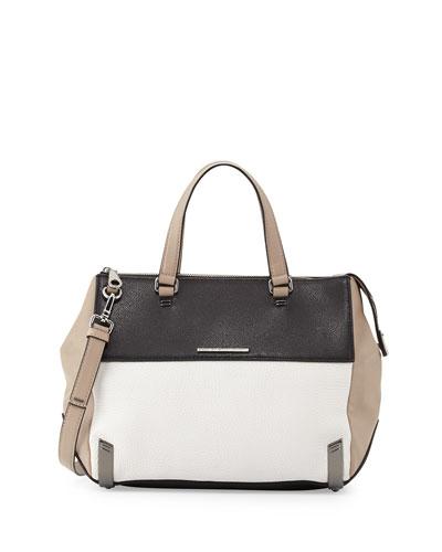 Shelter Island Colorblock Leather Satchel Bag