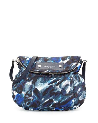Pretty Nylon Painterly Natasha Bag, Blue Multi