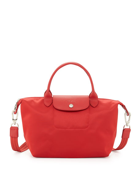 Le Pliage Neo Shoulder Tote With Strap Poppy