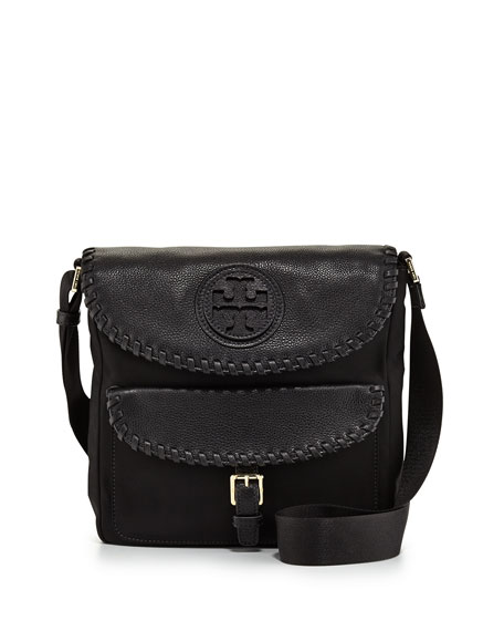 81023157d17 Tory Burch Marion Nylon Whipstitch Messenger Bag