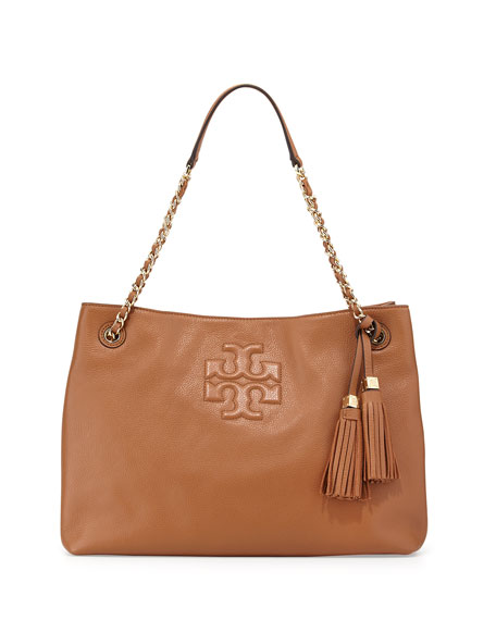 Thea Large Chain Tote Bag Bark