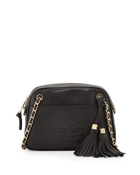 a741cd348f3 Tory Burch Thea Pebbled Crossbody Bag, Black