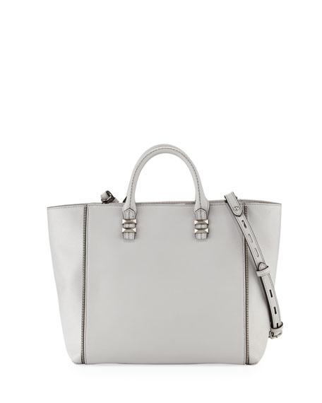 Perry Mini Zipper Tote Bag Pale Gray