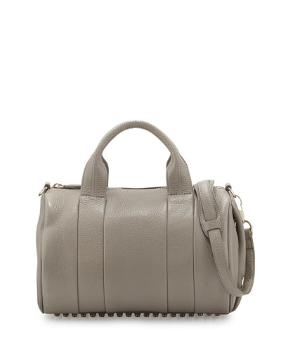 Rocco Stud-Bottom Satchel Bag, Oyster