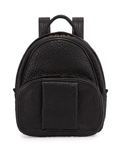 Dumbo Leather Backpack, Black/Rose