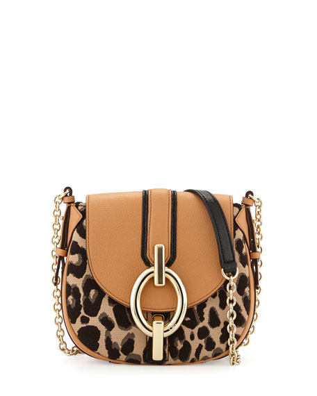 877847a1d998 Sutra Mini Leopard-Print Crossbody Bag Sandalwood