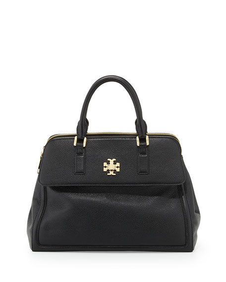 38b035566b7 Tory Burch Mercer Leather Dome Satchel Bag