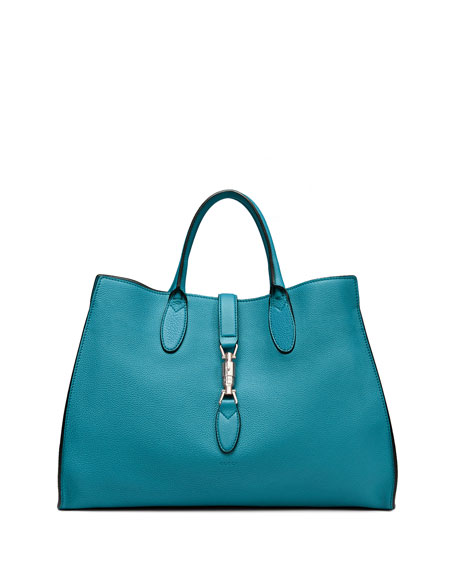 4288b27b34f Gucci Jackie Soft Leather Top Handle Bag