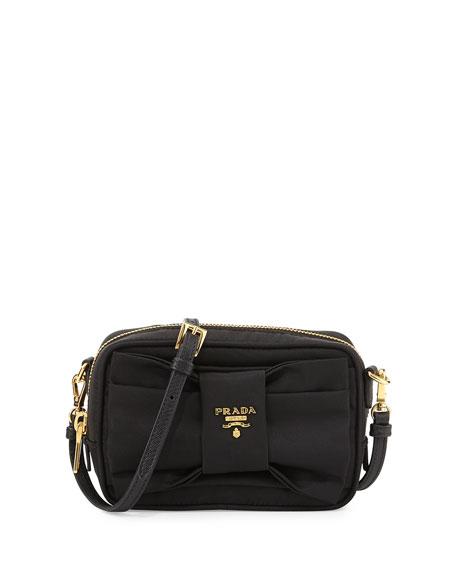 eb620fa4a2 Prada Tessuto Small Bow Crossbody Bag, Black (Nero)