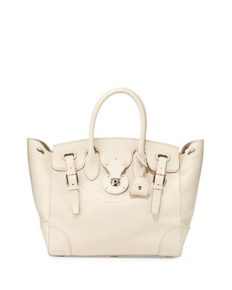 37d415fcb2 Soft Ricky 33 Calfskin Satchel Bag Off White