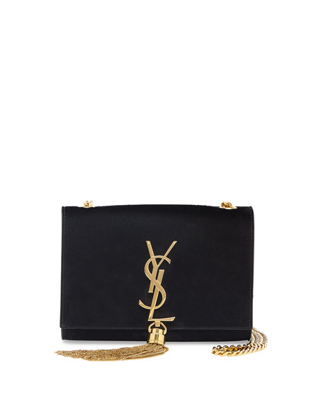 1d901009715a0 Saint Laurent Monogram Small Suede Tassel Crossbody Bag