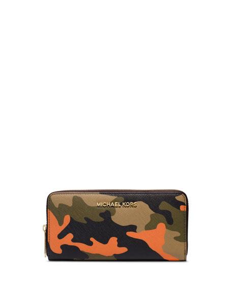 a303871658d21f MICHAEL Michael Kors Jet Set Camo Saffiano Continental Wallet