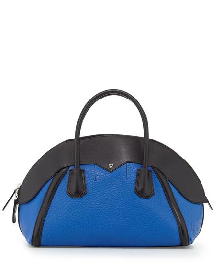 Marion Medium Bowler Bag Blue Black